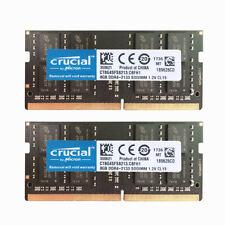 2x-Crucial 8 ГБ 2Rx8 PC4 DDR4 - 2133P 17000 МГц Sodimm для ноутбука памяти без кода коррекции ошибок 260Pin