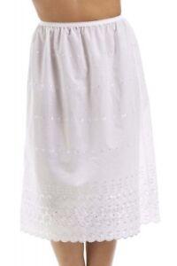 Ladies poly cotton underskirt half slip waist under slip petticoat sizes 10-28