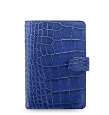 Filofax Classic Croc Personal Size Organizer/Planner Indigo Leather 026008