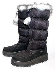 PAJAR Toboggan Wo's 8-8.5 Eu 39 Black Puffer Front Zip Waterproof Snow Boots