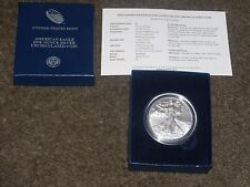 UNITED STATES MINT 2015 AMERICAN EAGLE ONE OUNCE SILVER UNCIRCULATED COIN  W