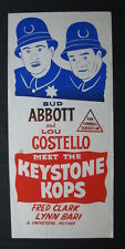 ABBOTT & COSTELLO MEET THE KEYSTONE COPS Australian daybill movie poster comedy