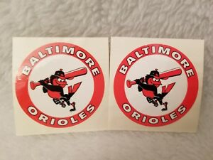 Baltimore Orioles Circle Stickers 2 Pack