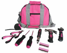 Pink Tool Kit Bag Pink Tools Set in Pink Carry Bag Pink Hammer, Pliers 25pc