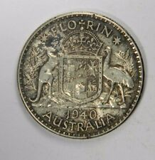 AUSTRALIA 1940 FLORIN - SILVER CLASSIC! INV#222