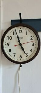 Smiths Sectric Wall Clock Vintage Industrial Retro