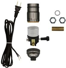 Creative Hobbies Make a Lamp Kit with Basic Hardware - Black Cord, Grey Socket