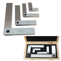 "MACHINISTS HARDENED STEEL SQUARE SET 4 PC 2""/ 3""/ 4""/ 6"" RIGHT ANGLE"