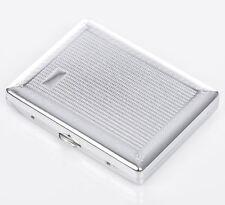 Metal CIGARETTE CASE - - - - - - smoker smoking chrome Tin Box gift present