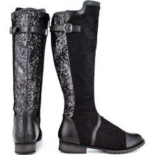 NIB Black Bardot Glitter  Boots by Michael Antonio Sze 5.5