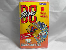 DC STARS TRADING CARDS SEALED BOX OF 18 PACKS BY SKYBOX
