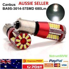 2x 12v Car Trailer H6W T11 T4W BA9S 3014 57SMD Canbus LED Error Free Light Bulb