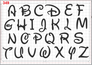 Disney Alphabet letters Stencil MYLAR A4 sheet strong reusable Art Craft Deco