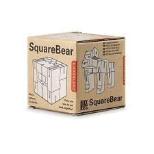 Kikkerland Square Bear 3D Wooden Animal Puzzle Block Beast Fun Children Gift