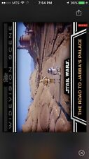 Topps Star Wars Digital Card Trader Road To Jabba's Palace Widevision Insert