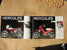 Hercules Prospekt Prima GT und MX1  Mofa Mokick Moped Reklameprospekt Mehrseitig