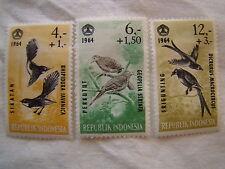 Indonesia Stamp Set 1965 Scott B160 - B162 SP65 Unused Birds