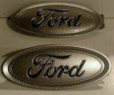 Focus RS/ST custom ingot silver/black logo emblem set,front & back,