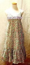 Old Navy Women's Dress Floral  Multi-Color Spaghetti Straps Cotton Ruffle M A023