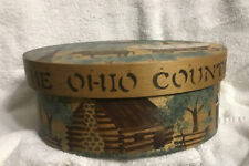 New listing Betty MacLaren Wood Shaker Style Box Handpainted The Ohio Country Excellent