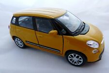 Welly Fiat 500 L in gelb orange ca. 11,5 cm lang