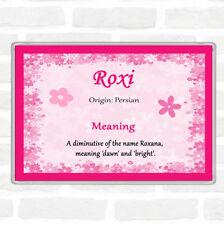 Roxi Name Meaning Jumbo Fridge Magnet Pink