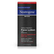 2 Pack Neutrogena Men Triple Protect Face Lotion With Sunscreen SPF 20 1.7 Oz Ea