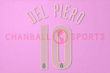 Del Piero #10 2004-2005 Juventus 3rd Awaykit Nameset Printing