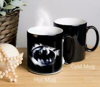 Batman Magical Colour Changing Mug. Image appears when hot