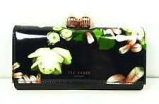 TED BAKER $165 Kengsington Floral Patent Leather Matinee Wallet Clutch