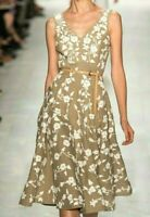 $4,495 Michael Kors Collection Embroidered Dance Floral Runway Dress IT 40 US 4