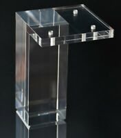 "Acrylic Lucite Furniture Legs for Sofa, Cabinet, ET Center Vanity, Large 5""H 4pc"