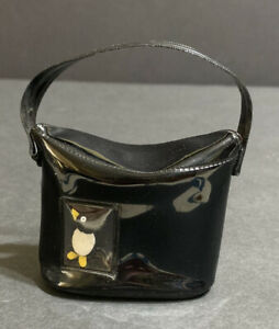 Premier Brand Vintage Black Patent Penguin Doll Purse Cissy, Ginny, Revlon, Toni
