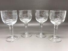 4 Vintage Sherry / Liqueur / Cordial Glasses - 10.25 Cm