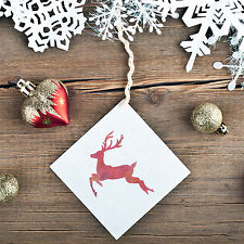 CraftStar Mini Reindeer and Snowflakes Stencil /Reusable Christmas Craft Stencil