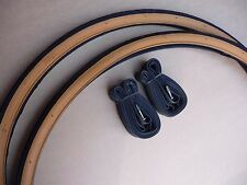 Pair Tyres & Innertubes 27x 1 1/4 Vintage Traditional Racing Sports Bike Tan