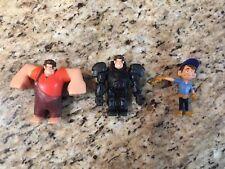 """2012 Disney Wreck It Ralph - FIX IT FELIX & Hero's Duty Ralph 3.5"""" Figure Lot"""