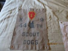 VIETNAM 25 TH INFANTRY DIVISON 44 TH SCOUT DOG K-9 GERMAN SHEPARD  WALL FLAG
