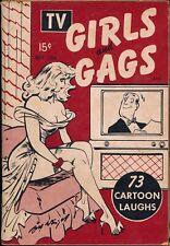 TV GIRLS & GAGS bill wenzel MAY 1954 pinup cartoons VTG POCKET MAGAZINE 127009