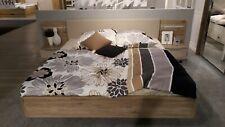 Bettanlage Lissabon Bett Doppelbett inkl. 2 x Nako 180 x 200 cm Champagner Eiche