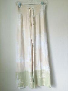 Claire Pettibone Bleu Claire Tie dye CrinklePant Yoga Loungewear Small Vintage