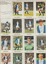 BIRMINGHAM CITY 1972-73 COMPLETE SET OF SOCCER STARS STICKERS WITH 10 X SIGNED
