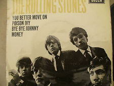 ROLLING STONES EP SELF TITLED YOU BETTER MOVE ON Decca dfe 8560