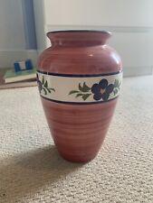 Pink And Blue Floral Ceramic Vase
