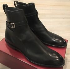 1,000$ Bally Hobston Black Leather Ankle Boots Size US 13 Made in Switzerland
