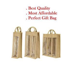 Jute Hessian wine bag 1 bottle bag 2 bottle wine bag 3 bottle wine carrier lot