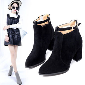 Fashion Women Boots Spring Autumn High Heels Pointed Toe Sexy Short Ankle Boots