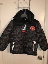 NWT Boy's Zero XPosur Jacket Size 10 12  Winter Coat Fleece Lined Black Camo