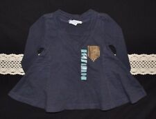 NWT Naartjie Kids Textured Military Stud Tunic (6-12 Months) Abyss