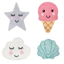Sass & Belle Childrens Bedroom Carpet Rug Mat Ice Cream / Star / Cloud / Shell